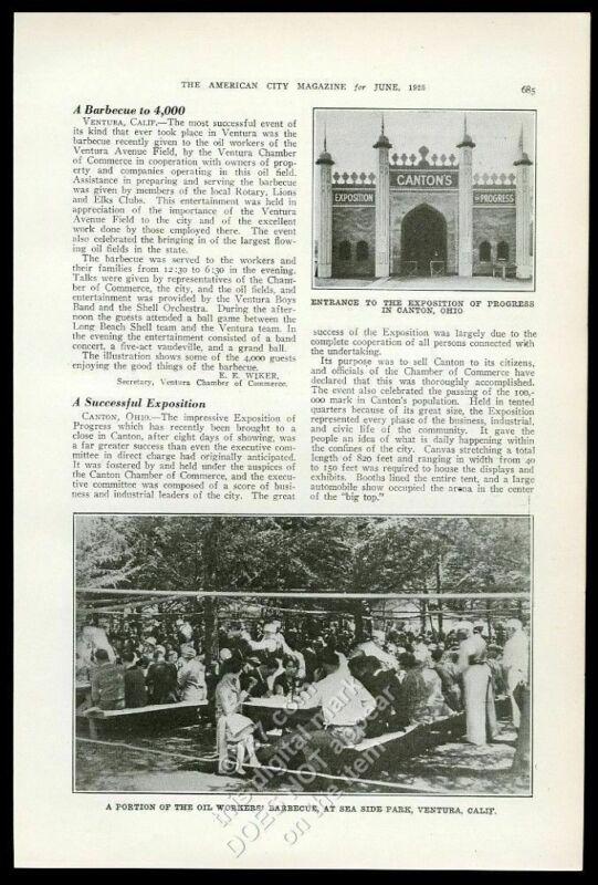 1925 Canton Ohio Exposition of Progress photo vintage trade print article