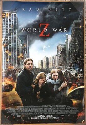 WORLD WAR Z MOVIE POSTER 2 Sided ORIGINAL INTL FINAL 27x40 BRAD PITT - World Z
