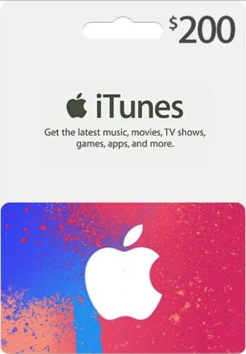 iTunes Gift Card $200 US USD Apple | App Store Key Code | American USA | iPhone