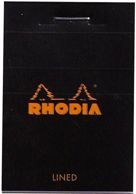 Rhodia Staplebound - Mini Notepad - Lined - Black - 2 X 3 Inch 80 Sheets - New