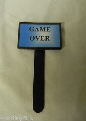 Wedding Party Reception Bridal Shower ~Game Over~  Sign Cake Topper - Wedding Reception Games