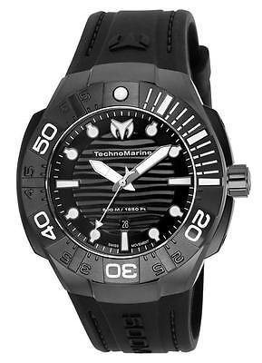 Technomarine TM-515012 Black/Reef Men's All Black Silicone 45mm