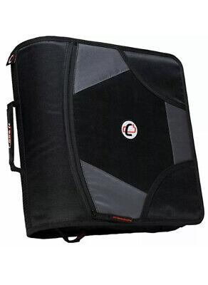 Case-it King Sized Zip Tab 4-inch D-ring Zipper Binder With 5-tab File Folder