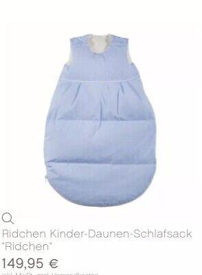 n-Schlafsack, 70cm, Hellblau Gestreift (Kinder Daunenschlafsack)