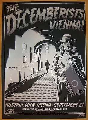 2007 Decemberists - Silkscreen Concert Poster Stainboy