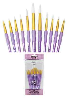 Taklon Set (11 pc PAINT BRUSH Set White Taklon CRAFTERS CHOICE Royal Langnickel RCC305)