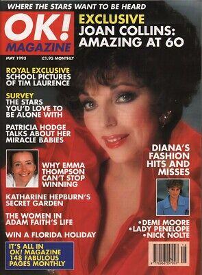 JOAN COLLINS - KATHARINE HEPBURN - DEMI MOORE - Vintage OK! Magazine 1993  C#68
