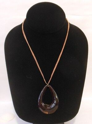 TORTOISE Shell Tear DROP Statment Pendant Necklace Great Gift Idea!](Necklace Ideas)