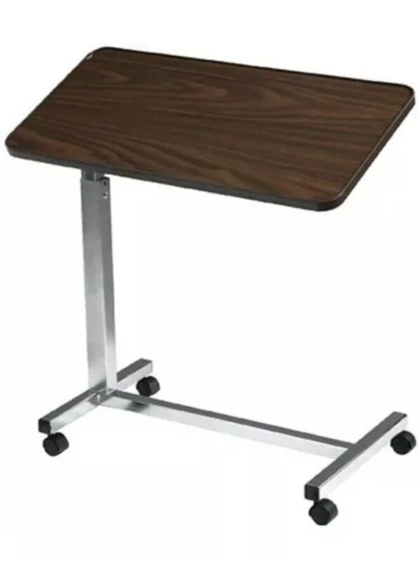 Drive Medical Deluxe Tilt-Top Overbed Table Over Bed Height Adjustable New