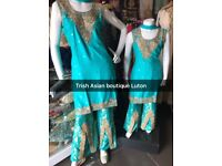 Mum daughter matching Asian dress New Desginer