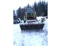 Hymac 370, 1972, wheeled digger with 4 buckets and forks