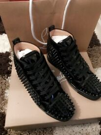 Brand new Authentic Christian Louboutins glossy black size 7