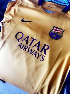 Brand new yellow FC Barcelona Barca Jersey