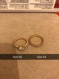 2 rose gold pandora rings