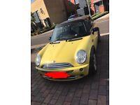 Mini Cooper yellow 54 plate