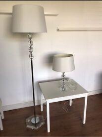 Cream Standing & Table Lamp Set from Marks & Spencer