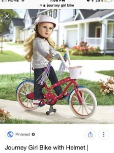 "Journey Girl Bike ( for 18"" dolls) and helmet"