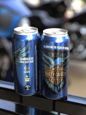 Harley Davidson Beer - HARLEY DAVIDSON LAGER BEER CAN 115 YEARS ANNIVERSARY MILWAUKEE BREWING GOOD CITY