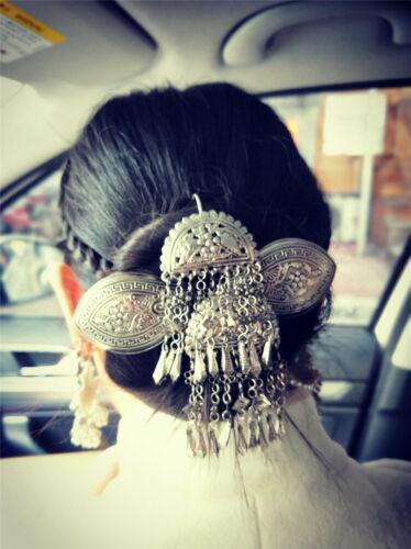 Classic Hair Accessories tribal hand miao silver flower hairpin headdress 1piece