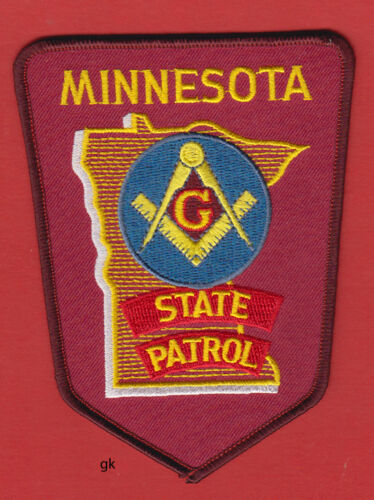 MINNESOTA STATE PATROL MASON MASONIC POLICE SHOULDER PATCH
