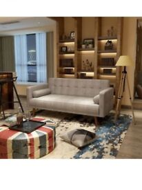 Fabric Sofa 3 Seater In Beige Colour