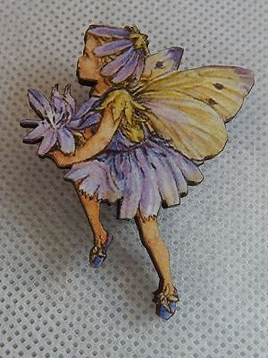 Flower Fairy Brooch or Scarf Pin Wood Accessories Fashion NEW Multi-Color