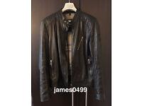 Men's BELSTAFF Kirkham black leather biker jacket. Size L/XL (52). 2 years old. Includes receipt!