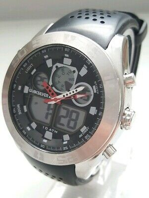 Quiksilver QS/1017BKSV The Fifty50 Men's 48 mm Quartz Digital Dual Display Watch