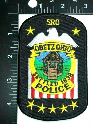 OBETZ OHIO POLICE SRO ( SCHOOL RESOURCE OFFICER) PATCH (PD 8)