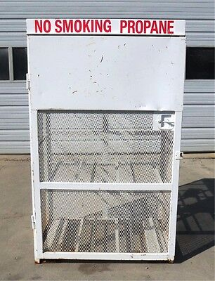 Unknown Brand Gas Propane Tank Cylinder Cabinet Holds 9 Horizontal Tanks