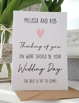 Personalised thinking of you on your would be wedding day lockdown card