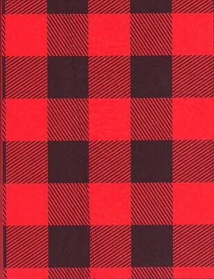 RED LUMBERJACK BUFFALO PLAID GIFT TISSUE  PAPER-10 Large Sheets