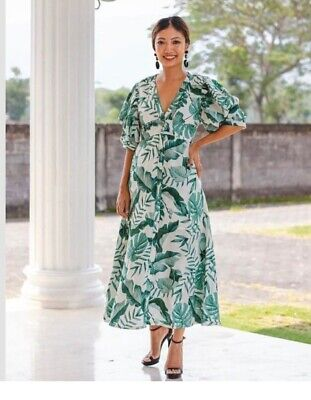 SOLD OUT Leaf Print Johanna Ortiz X H&M Dress MEDIUM