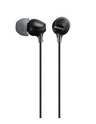 Sony Headphones MDR-EX15 In-Ear Stereo, Black, MDR-EX15LP, Earphones, Earbuds