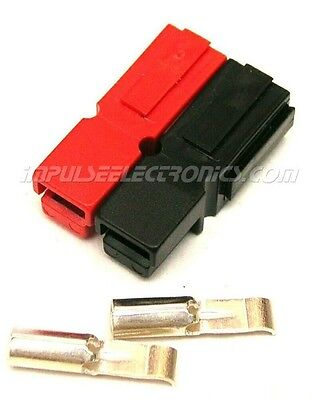 Powerpole Connector 30 Amp Contacts Red Black Housings Bonded 10 Pak