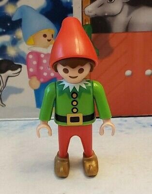 Playmobil 2019 Advent Calendar 9264 Santa's Workshop Gnome Boy Red and Green Elf