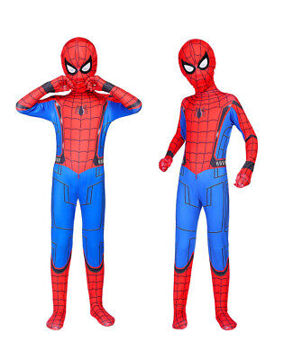 US Spider-Man: Homecoming Cosplay Costume Jumpsuits Unisex Kids Spandex Bodysuit