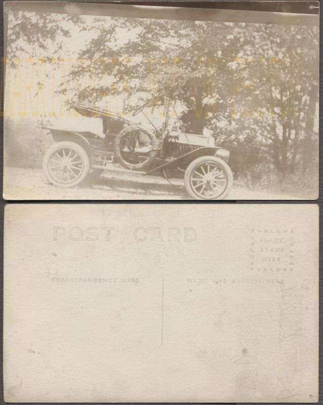Vintage Car Photo Postcard Young Man in circa 1910 Maxwell Runabout 709018