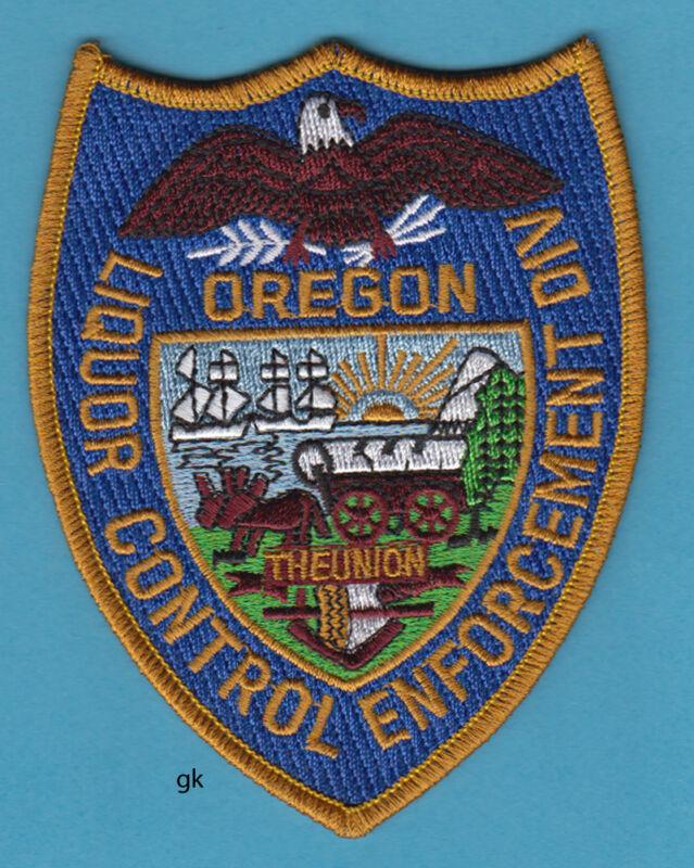 OREGON LIQUOR  ALCOHOL CONTROL ENFORCEMENT DIVISION POLICE SHOULDER PATCH