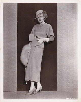 BETTE DAVIS Original Vintage RARE 1934 Warner Bros Fashion Portrait Photo
