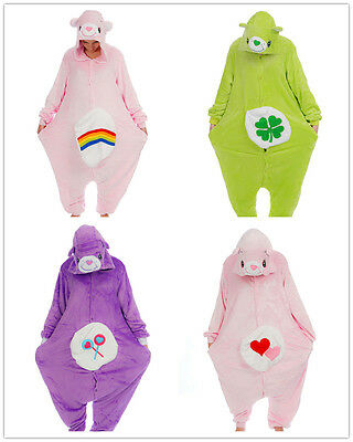 Unisex Care Bear Onesiee Kigurumi Kostüm Kapuzenpullover Pyjama - Care Bears Kostüm