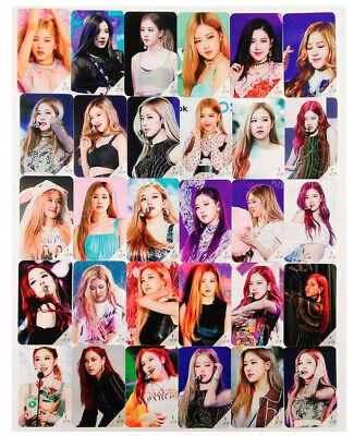 30pcs Set Kpop BLACKPINK ROSE Photocard K-POP Event Message Photo Card New