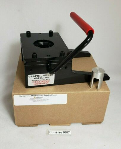 """Tecre 1 1/4"""" Model 1629 Graphic Punch Circle Cutter for Buttons w/ Ejector"""