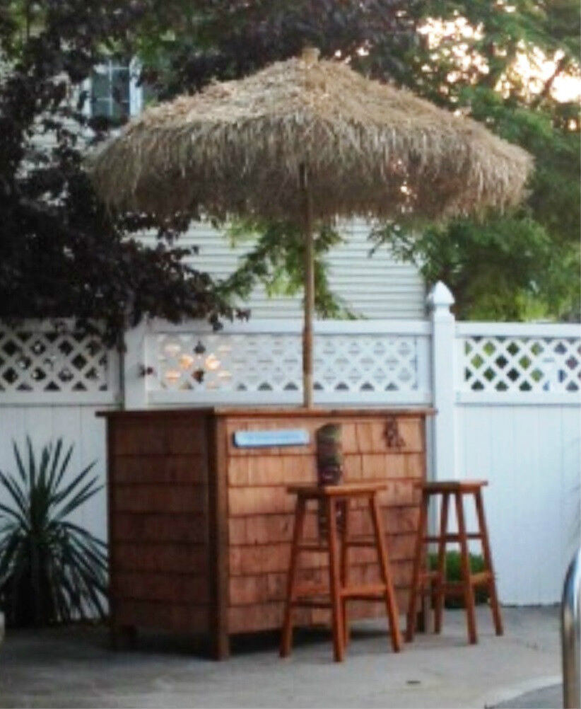 Patio Tiki Bar : BambooThatch Tiki UmbrellaFor Patio BarPalapa SetChoice of 3 Sizes