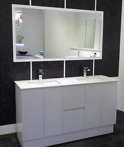Bathroom Vanity Unit Cabinet 1500mmW Top Basin White Gloss New Underwood Logan Area Preview