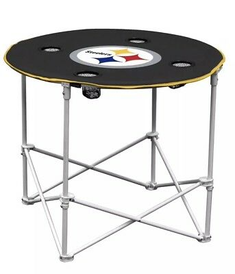 NFL Pittsburgh Steelers Round Tailgating Table Collapsible Pittsburgh Steelers Nfl Tailgate Table