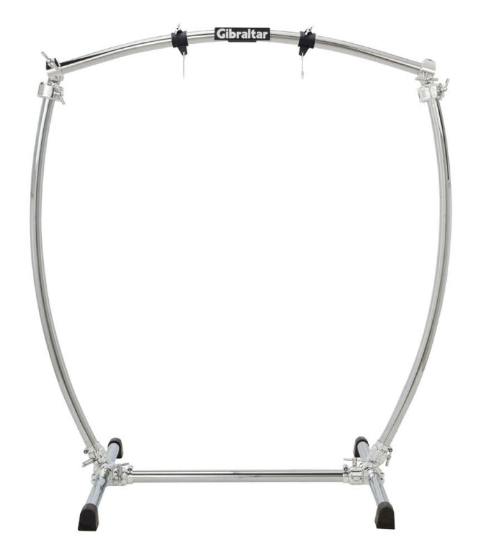 Gibraltar Large Curved Chrome Gong Stand  - 279060