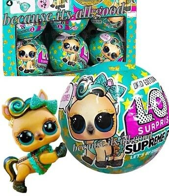 1 LOL Surprise SUPREME PET Series Lucky Luxe Gold Pony Ball Doll Wave 2 3 4 5