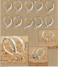 925 Sterling Silver Stamped Leverback Clasp Earring Findings 50pcs (#2635)