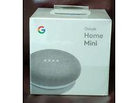 Google Home Mini - chalk white, brand new, £35